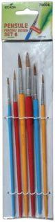 Set 6 pensule varf rotund, Ecada
