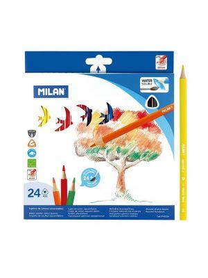 Creioane colorate acuarelabile,  24 buc/set, Milan