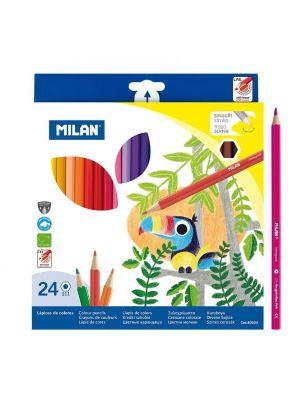 Creioane colorate 24 buc/set, Milan