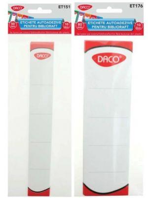 Etichete autoadezive pentru biblioraft, 10/set, Daco