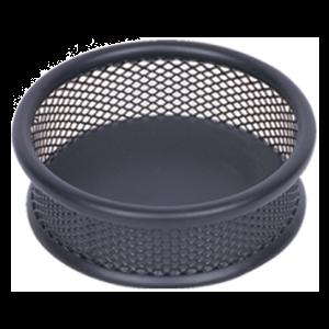 Suport metalic (mesh) pentru agrafe de birou negru
